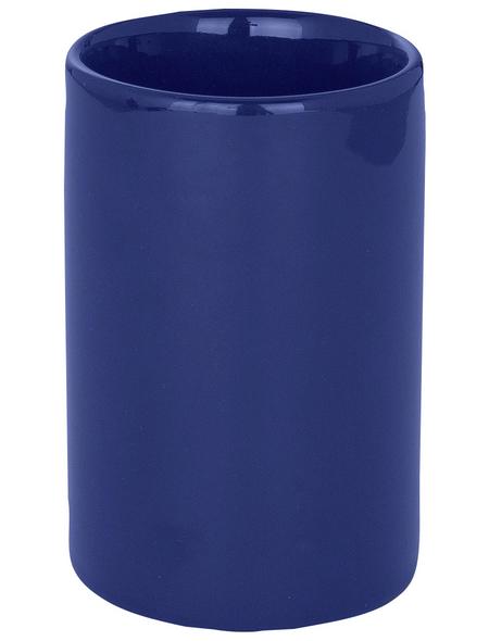 WENKO Zahnputzbecher »Polaris«, Keramik, dunkelblau