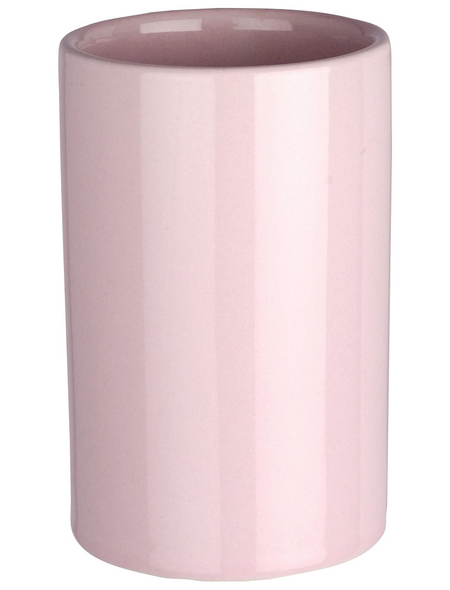 WENKO Zahnputzbecher »Polaris«, Keramik, rosa