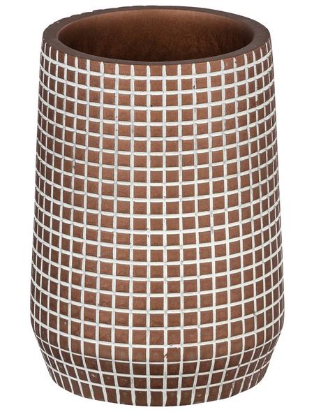 WENKO Zahnputzbecher, Polyresin, bronzefarben, rund