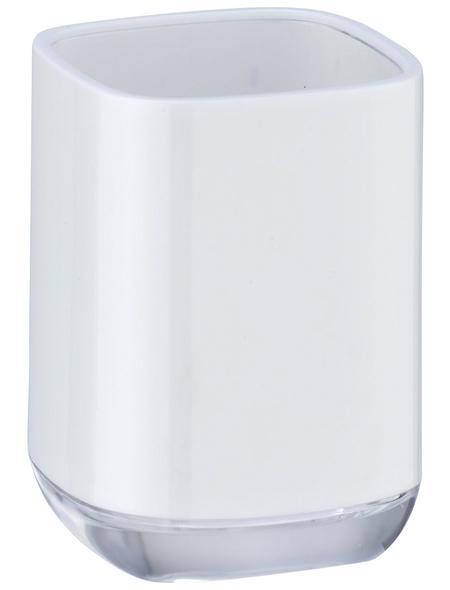 WENKO Zahnputzbecher, Polystyrol (EPS), weiß, rund