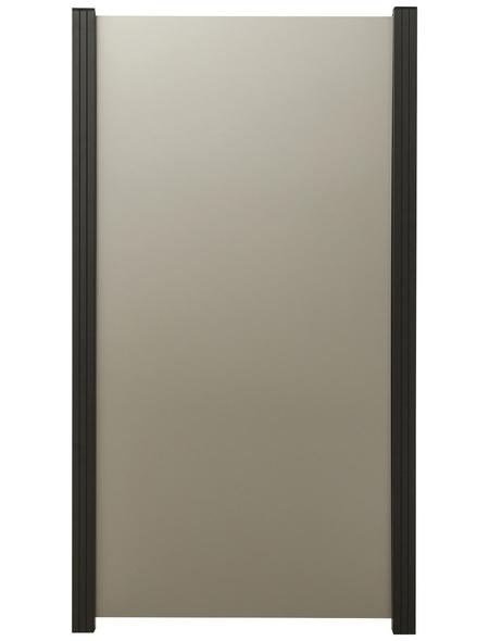 MR. GARDENER Zaun-Grundelement, Aluminium, HxL: 180 x 90 cm