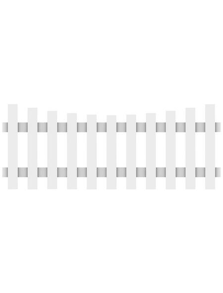 TraumGarten Zaunelement »Longlife Cara«, HxL: 70 x 180 cm, weiß