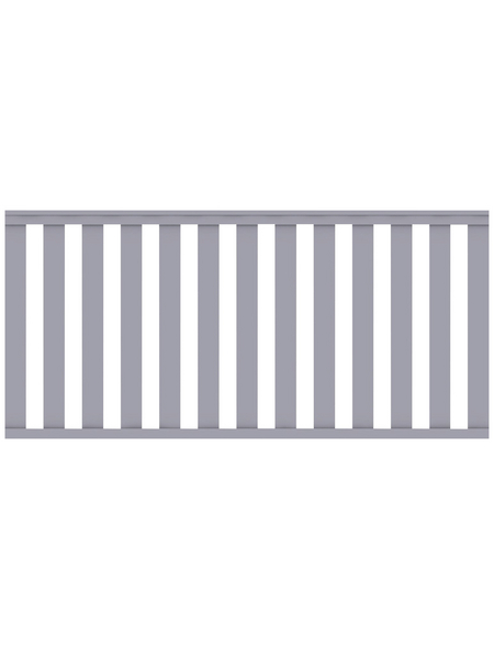TraumGarten Zaunelement »Longlife Cleo«, HxL: 85 x 180 cm, grau
