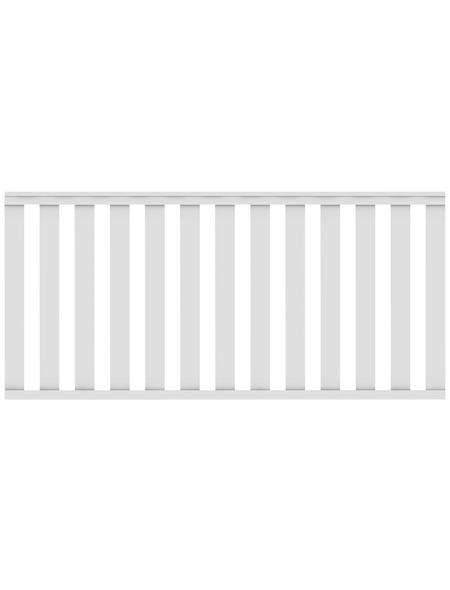TraumGarten Zaunelement »Longlife Cleo«, HxL: 85 x 180 cm, weiß