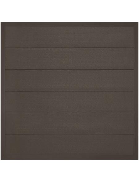 MR. GARDENER Zaunelement »Moglia«, WPC, LxH: 180 x 180 cm