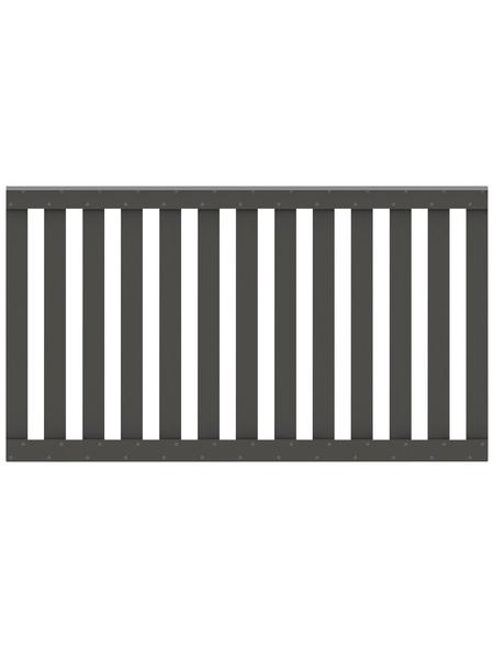 TraumGarten Zaunelement »RAJA WPC«, HxL: 85 x 149 cm, anthrazit