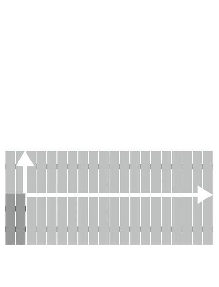 TraumGarten Zaunelement »SQUADRA «, HxL: 50-90 x 200 cm, silberfarben