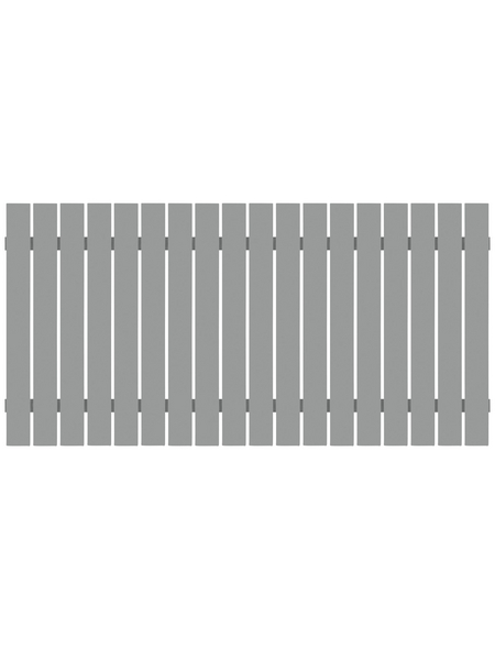 TraumGarten Zaunelement »SQUADRA «, HxL: 90 x 180 cm, silberfarben
