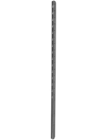 FLORAWORLD Zaunpfosten »Carat«, Stahl, BxLxT: 3,5 x 200 x 3 cm