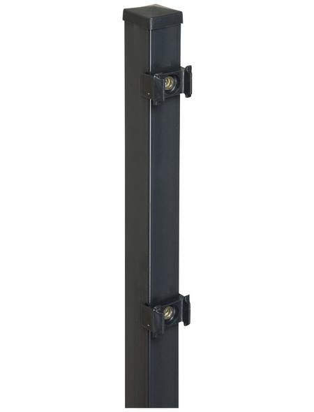 FLORAWORLD Zaunpfosten »Classic«, Stahl, BxLxT: 4 x 170 x 4 cm