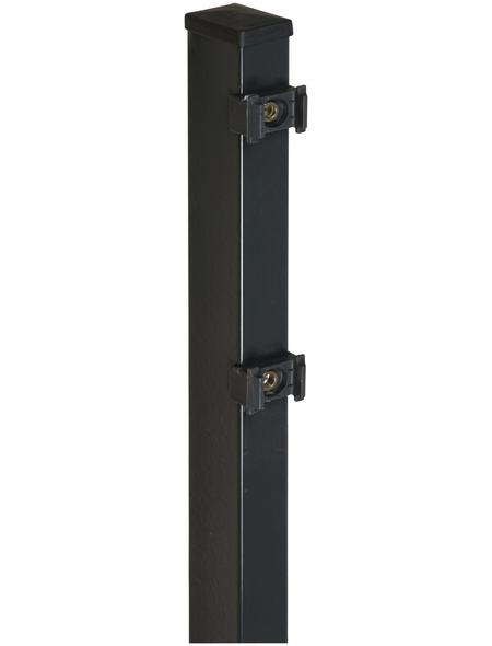 FLORAWORLD Zaunpfosten »Comfort«, Stahl, BxLxT: 6 x 180 x 4 cm