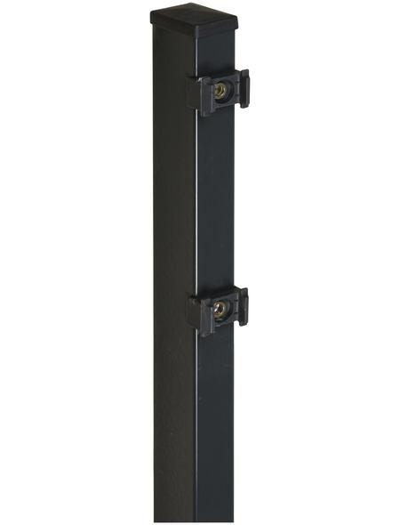 FLORAWORLD Zaunpfosten »Comfort«, Stahl, BxLxT: 6 x 240 x 4 cm