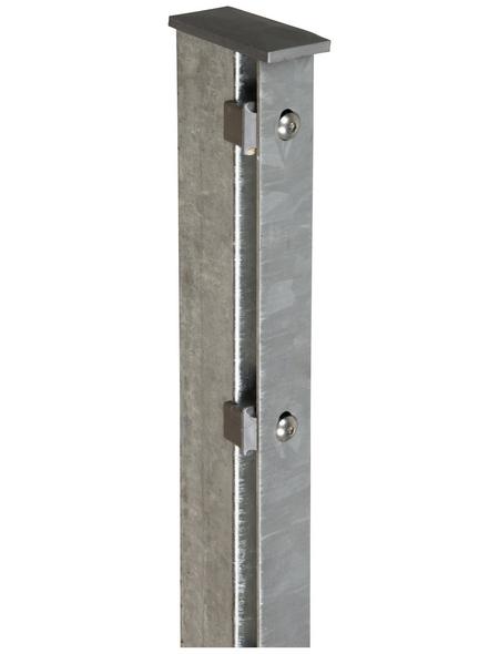 FLORAWORLD Zaunpfosten »Premium«, Stahl, BxLxT: 6 x 220 x 4 cm