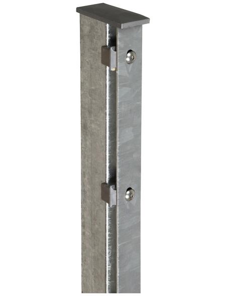 FLORAWORLD Zaunpfosten, Stahl, BxHxL: 6 x 4 x 120 cm