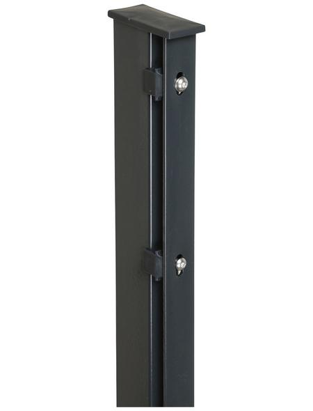 FLORAWORLD Zaunpfosten, Stahl, BxHxL: 6 x 4 x 220 cm