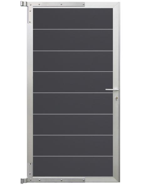 MR. GARDENER Zauntor »Donatus«, WPC/Aluminium, HxL: 180 x 90 cm