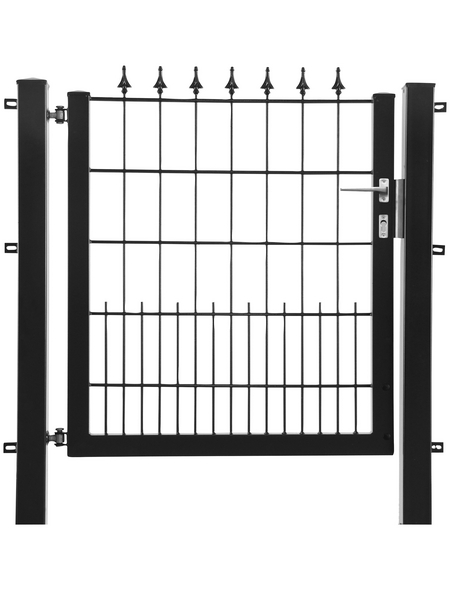 FLORAWORLD Zauntor, HxL: 100 x 100 cm, Stahl, anthrazit