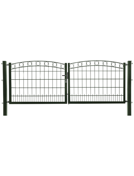 FLORAWORLD Zauntor, HxL: 100 x 300 cm, Stahl, grün