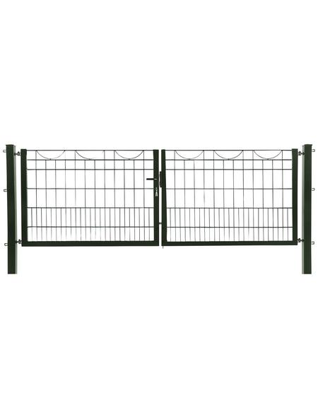 FLORAWORLD Zauntor, HxL: 80 x 300 cm, Stahl, grün