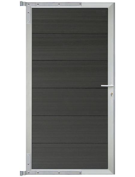 MR. GARDENER Zauntor »Modular«, WPC/Aluminium, HxL: 180 x 90 cm