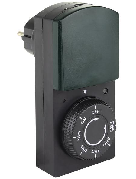 REV Zeitschaltuhr, mit Dämmerungsautomatik, Schwarz/Grün