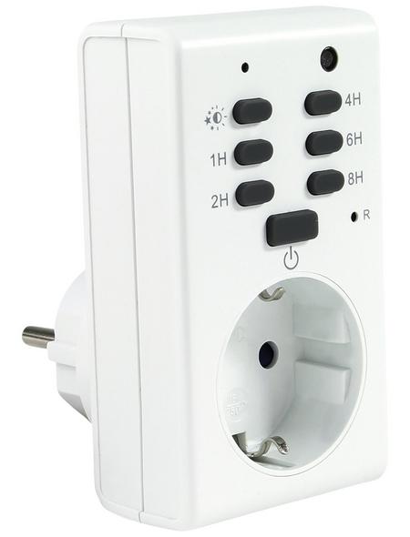 REV Zeitschaltuhr, mit Dämmerungsautomatik, Weiß