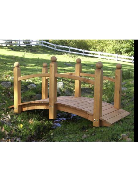 PROMADINO Zierbrücke, Holz, honigbraun