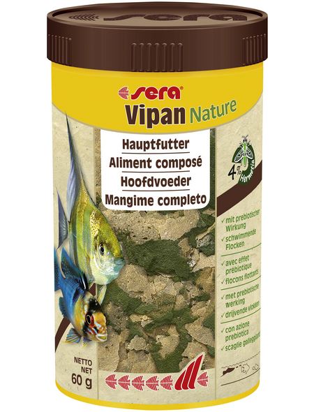 sera Zierfischfutter »Vipan Nature«, Aqua, 250ml