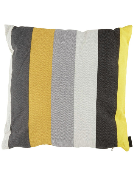 MADISON Zierkissen »Victoria Yellow«, B x L x H: 50  x 50  x 13 cm