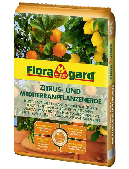 FLORAGARD Zitruspflanzernerde, für Zitruspflanzen und mediterrane Pflanzen