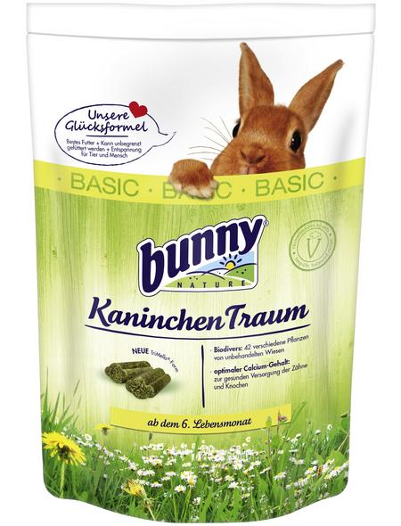 BUNNYNATURE Zwergkaninchenfutter »KaninchenTraum Basic«, für Zwergkaninchen ab dem 6. Lebensmonat