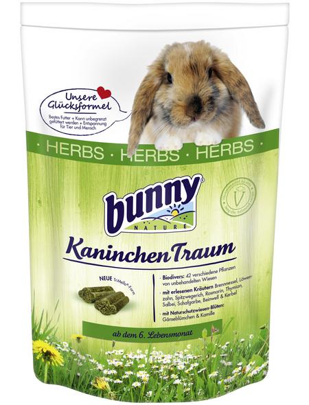 BUNNYNATURE Zwergkaninchenfutter »KaninchenTraum Herbs«, für Zwergkaninchen ab dem 6. Lebensmonat
