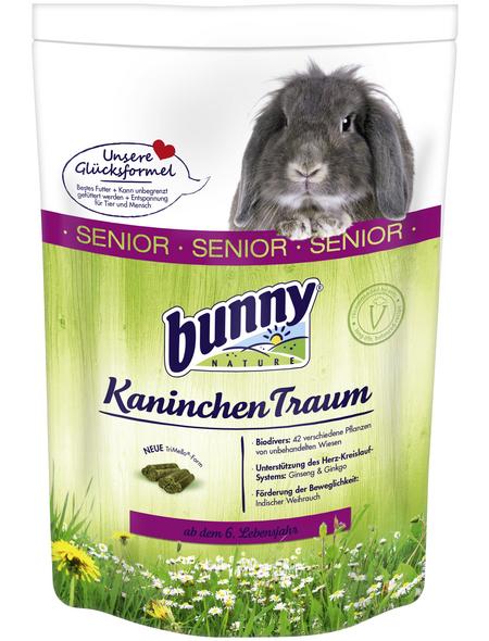 BUNNYNATURE Zwergkaninchenfutter »KaninchenTraum Senior«, für Zwergkaninchen ab dem 6. Lebensjahr