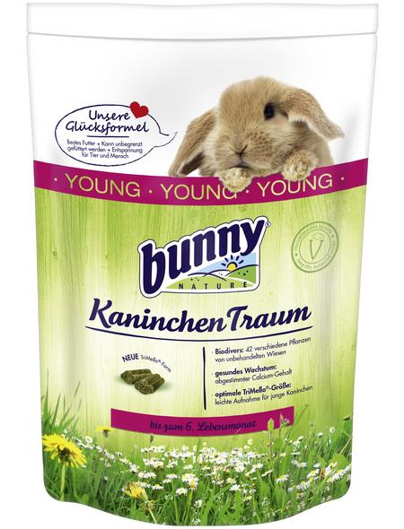 BUNNYNATURE Zwergkaninchenfutter »KaninchenTraum Young«, für Zwergkaninchen bis zum 6. Lebensmonat