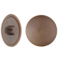 GECCO Abdeckkappe, TX20, PE, braun, Ø 12 mm, 50 St.-Thumbnail