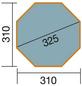 WEKA Achteckpool, grau/grün, BxHxL: 310 x 116 x 310 cm-Thumbnail