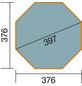 WEKA Achteckpool, grau/grün, BxHxL: 376 x 116 x 376 cm-Thumbnail