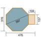 WEKA Achteckpool, grau/grün, BxHxL: 376 x 116 x 476 cm-Thumbnail