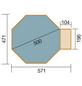 WEKA Achteckpool, grau/grün, BxHxL: 471 x 116 x 571 cm-Thumbnail