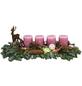 Adventsgesteck, antikrosa dekoriert-Thumbnail