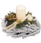 Adventsgesteck, creme dekoriert-Thumbnail