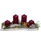 Adventsgesteck, karminrot dekoriert-Thumbnail