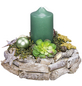 Adventsgesteck, smaragd dekoriert-Thumbnail