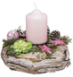 Adventsgesteck, softrosa dekoriert-Thumbnail