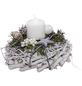 Adventsgesteck, weiß dekoriert-Thumbnail