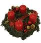 GARTENKRONE Adventskranz, Edeltanne, Ø: 25 cm, rot dekoriert-Thumbnail