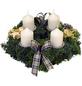GARTENKRONE Adventskranz, Edeltanne, Ø: 25 cm, weiß dekoriert-Thumbnail