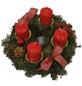 GARTENKRONE Adventskranz, Edeltanne, Ø: 30 cm, rot dekoriert-Thumbnail