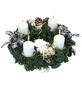 GARTENKRONE Adventskranz, Edeltanne, Ø: 30 cm, weiß dekoriert-Thumbnail
