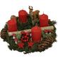 GARTENKRONE Adventskranz, Edeltanne, Ø: 35 cm, rot dekoriert-Thumbnail
